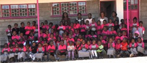 The teachers and the 101 children at the school