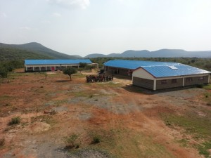 The clinic and classrooms will be built at the front of the school.