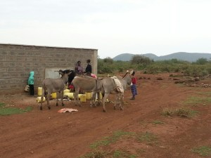 Community water point at the school.